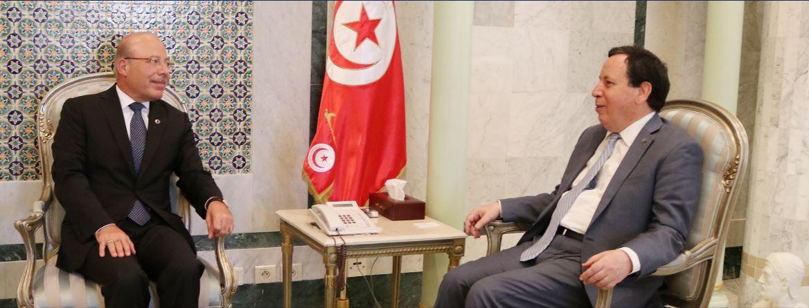 وزير الخارجية وسفير تركيا