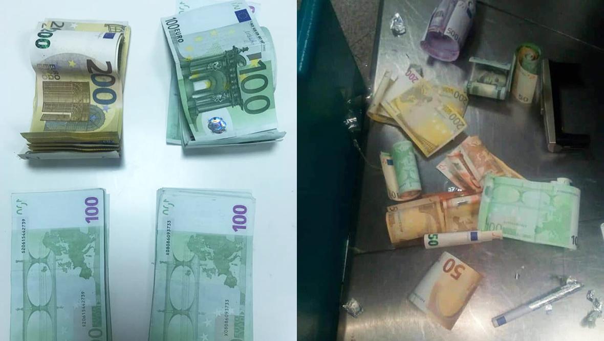 احباط تهريب 256 ألف دينار من العملة الاجنبية