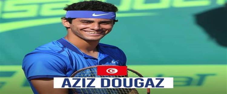 لاعب التنس التونسي عزيز دوغاز